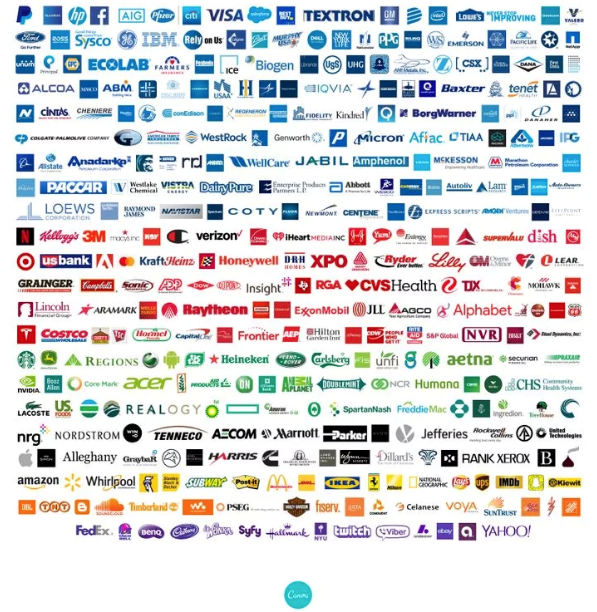 transform magazine blue tops list of most used colour in fortune 500 logos 2019 articles fortune 500 logos